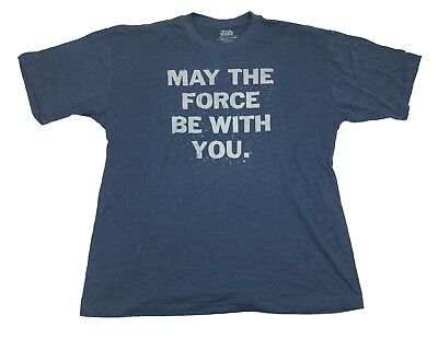 Star Wars May The Force Be With You Authentic Licensed Mens T Shirt Xlt 5Xl