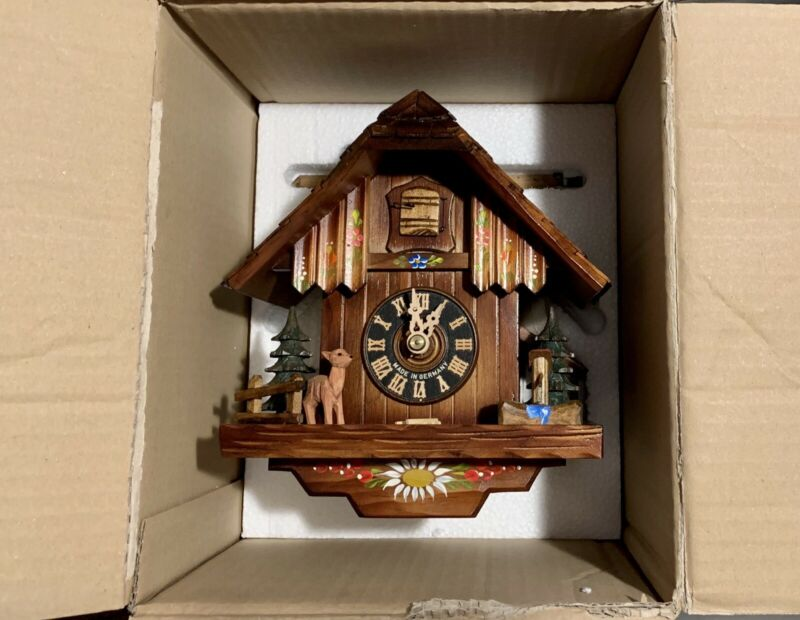 "Original And New HÖNES CHALET CUCKOO CLOCK 10"" From The Black Forrest Germany"