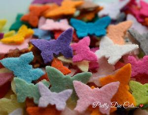 Mini Felt Butterflies, die cut Craft Embellishments