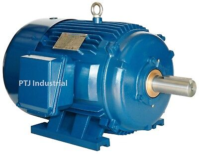 125 hp electric motor 444t 3 phase 1800 rpm premium efficient severe duty