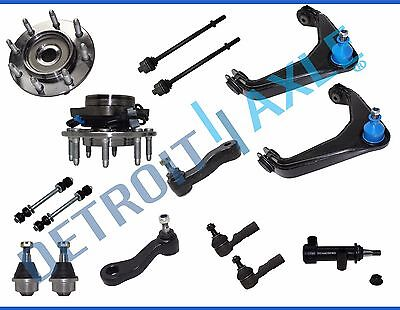 Front Wheel Hub Bearing Assembly Chevy GMC Hummer 15pc Control Arm Kit 4x4 ABS