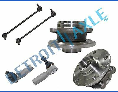 New 6pc Front Wheel Hub & Bearing Suspension Kit for VW Passat Jetta Golf Rabbit