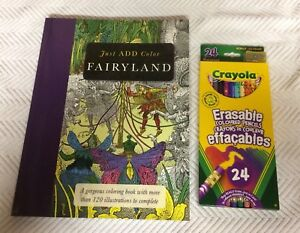 Coloring Book and Pencil Crayons For Sale - New