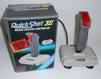 Vintage 1987 Quick Shot XII Nintendo NES Deluxe Joystick Controller Gaming NOS