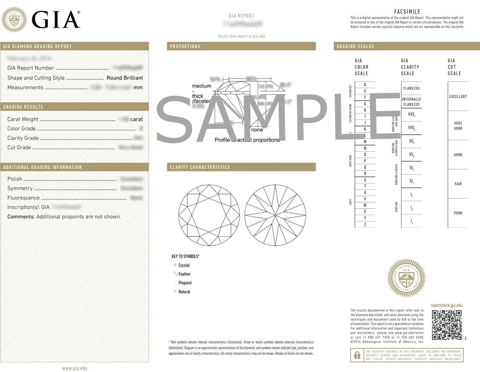 2.25ct Round Diamond Engagement Designer Halo Set Ring GIA F VVS2 14k White Gold 5