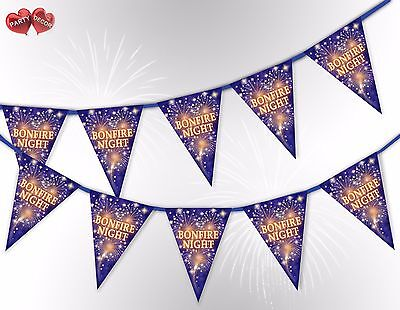 Bonfire Night the 5th of Nov Guy Fawkes Bunting Banner 15 flags by PARTY DECOR](Bonfire Night Decorations)