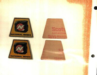 2 Nice Older Early 80S National Mines  Coal Co  Coal Mining Sticker   926