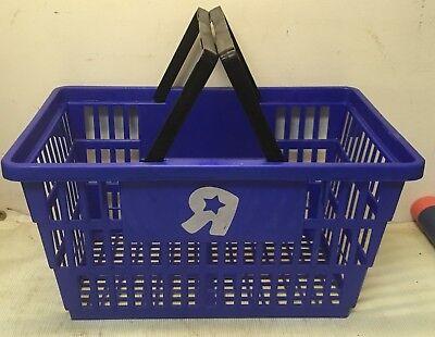 Vintage 90's Toys R Us PLASTIC SHOPPING BASKET