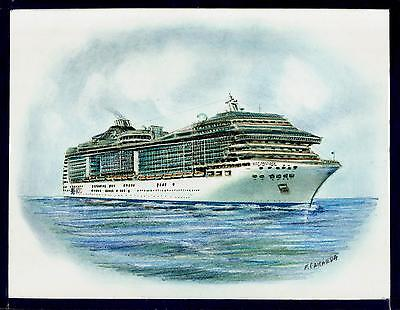 Original Art Work     Msc  Preziosa    Msc Cruises    Cruise Ship
