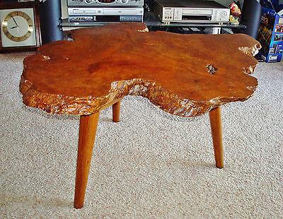 Mitte des Jahrhunderts Modern Redwood Spitze Burl 1 3 4 Dick Slab Coffee Table - Mitte Des Jahrhunderts Moderne Möbel