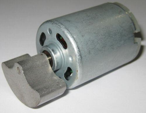 12 VDC Shaker Motor - 4000 RPM - Heavy Massager Metal Weight - 6 to 12 V DC