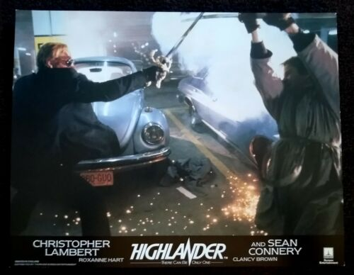 Highlander 1986 Vintage English Lobby Card Christopher Lambert Fight Scene