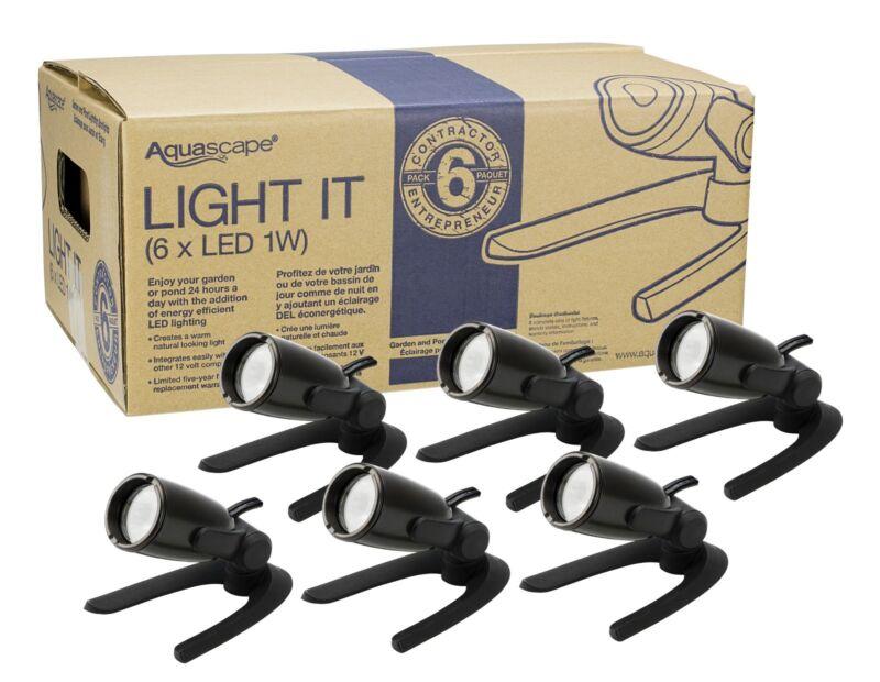 Aquascape 1-Watt LED Spotlight Contractor 6-Pack 84045