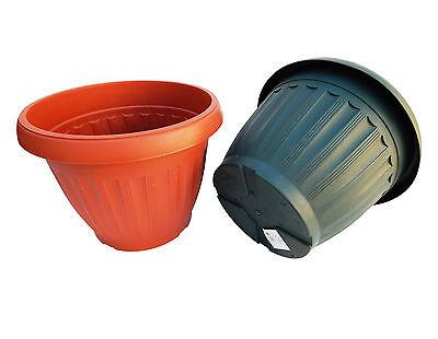 4 x Round Shape Planters Nursery Garden Flower Plant Pot Home Decor - Large