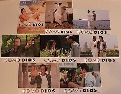 Jim Carrey Jennifer Aniston Bruce Almighty lobby card set 8 Morgan Freeman