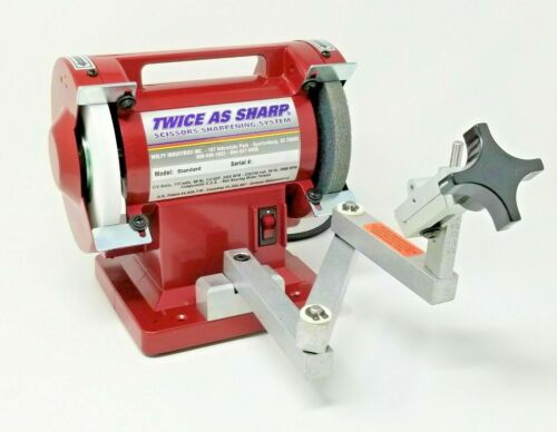 New Genuine WOLFF Twice-as-Sharp® SCISSOR SHARPENER STANDARD Red MODEL STD-TAS