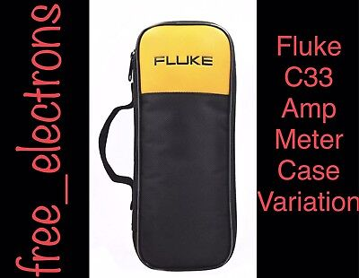 Fluke C33 Soft Case Amp Clamp Meter T5 T6 302 303 330 773 374 375 376 381 Varian