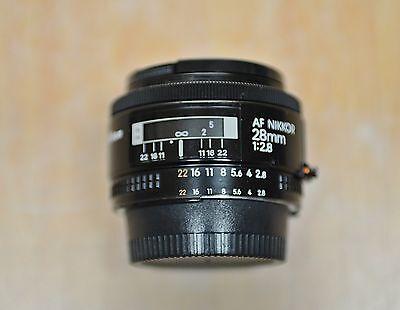 Nikon Lens AF NIKKOR 28mm 1:2.8 free ship