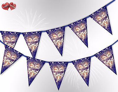 Bonfire Night the Guy Fawkes Mask 5th of November Bunting Banner by PARTY DECOR - The Guy Fawkes Mask