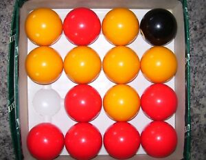 Classic Red & Yellow Pool balls New Old Stock.