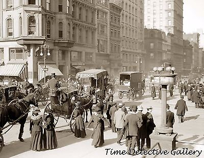 Fifth Avenue & 42nd Street, New York City, NY - circa 1900- Historic Photo Print 42nd Street Photo
