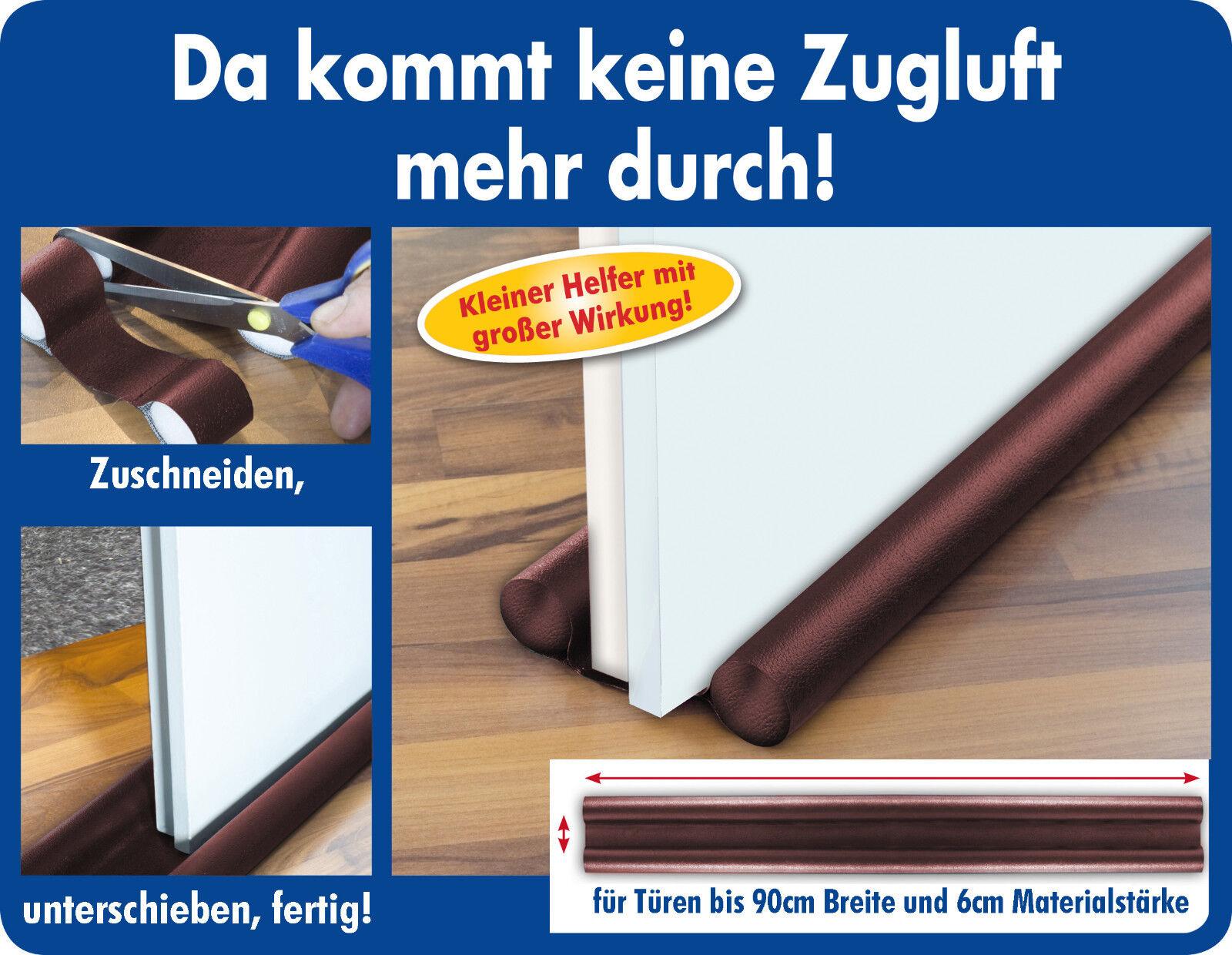 2-5 Zugluft Stopper BRAUN Tür Abdichtung 90 cm Türdichtung Zugluftstop Dichtung