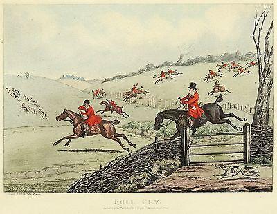 JAGD - FUCHSJAGD - Henry Thomas Alken - Full Cry - kolor. Aquatinta 1841