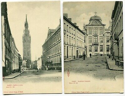 CPA - Lot de 2 Cartes Postales - Belgique- Gand - Beffroi - Académie Flamande (