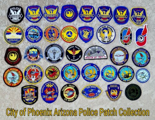 Nice Collection of Phoenix (AZ) Police Patches (Mixed Years of Use) (Mint)