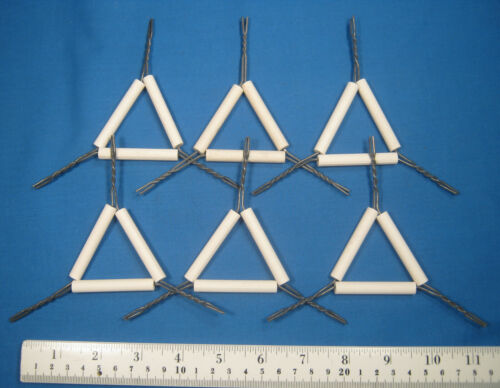 IRON  WIRE  TRIANGLES  X6  NEW  OLD  STOCK  FREE SHIPPING