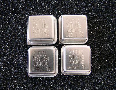 Vectron Crystal Oscillator 50mhz 3.3v Vcb1-1068-50m000 Dip-8 Qty.4