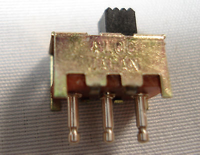 Alco Micro-miniature Slide Switch Spdt Through Hole Mount 12mm-free Shipping
