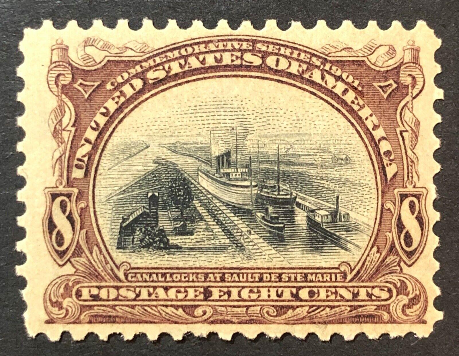 Scott 298 MH 8Cent US Pan American Expo 1901 - $12.50