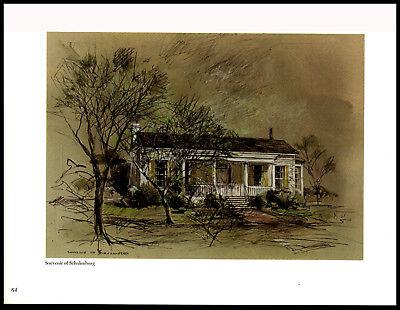 Buck/Edward Meugge Schiwetz—Souveir of Schulenburg—Art Print 9x11.75