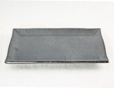 (Rectangular Black Ceramic Humidity / Drip Tray for Bonsai Tree  7.75