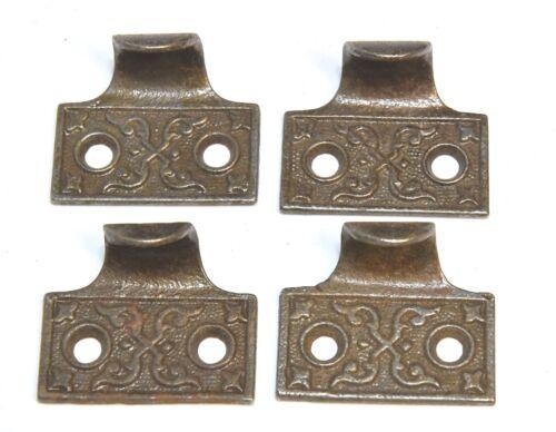 4 MATCHING VINTAGE EASTLAKE STYLE WINDOW LIFTS HANDLES