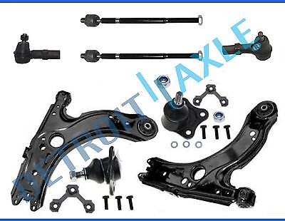 1998-2010 Volkswagen VW Beetle Front Lower Control Arm Ball Joint Tierod 8pc Kit