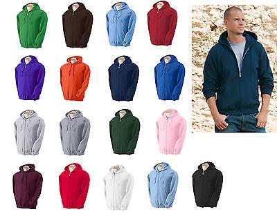 Gildan Heavy Blend Full Zip Hooded Sweatshirt Size S-5XL 17 colors Zipped Hoodie Blend Full Zip Hoodie