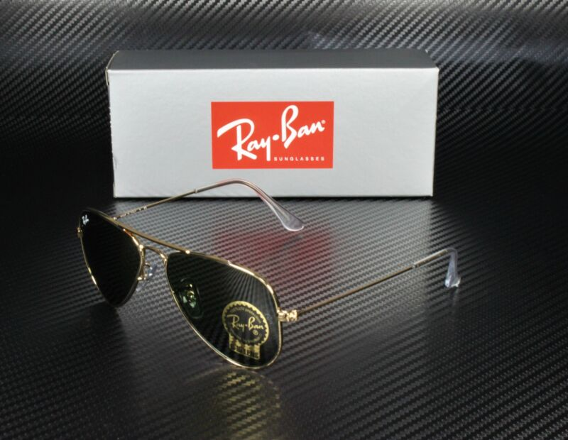 RAY BAN RB3044 L0207 Aviator Small Arista Crystal Green 52 mm Men