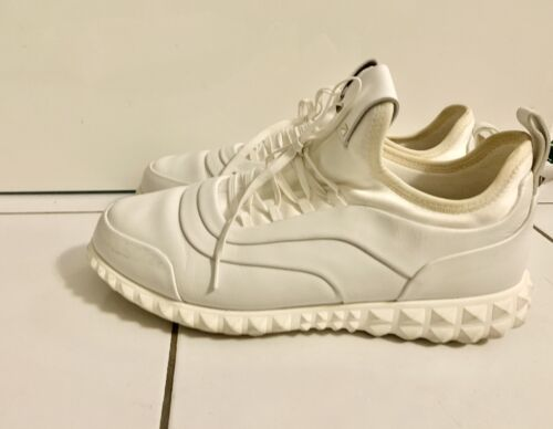 Authentiques sneakers valentino rockrunner en cuir blanc t.39