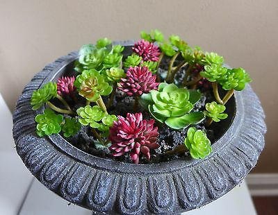 Artificial Miniature Plants Succulents Fairy Garden Grass (set of 21)