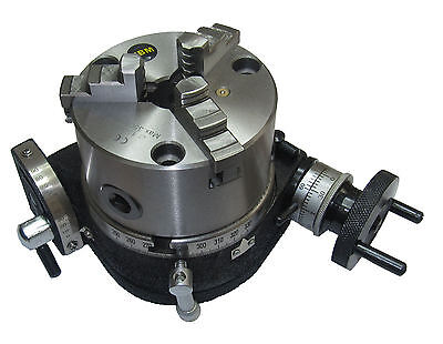 RDGTOOLS-NEW-100MM-TILTING-ROTARY-TABLE-100MM-3-JAW-CHUCK-ENGINEERING-TOOLS