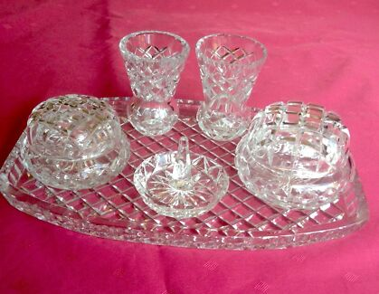 Glass Dressing Table Set | Collectables | Gumtree Australia ...