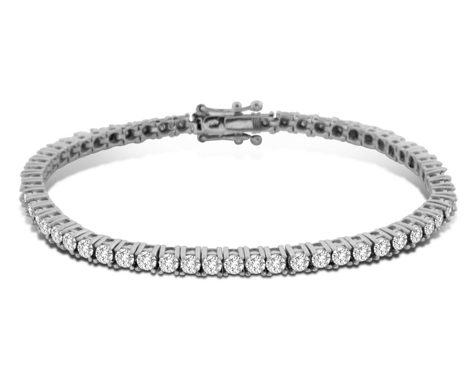 "14k White Gold 1.00ctw Diamond Tennis Bracelet 7.0"""