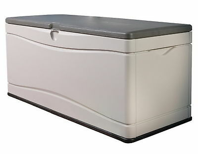 Extra Large Outdoor Storage Box Patio Deck Garden 130 Gal Dock Pool  Bench New