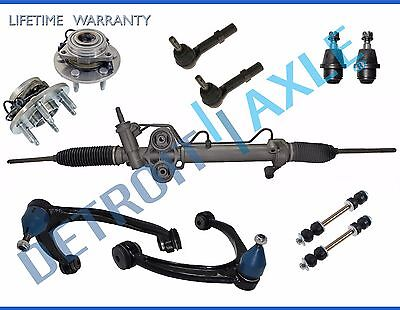 11pc Wheel Bearing + Control Arm +Power Rack and Pinion & Suspension Kit 4x4 ABS