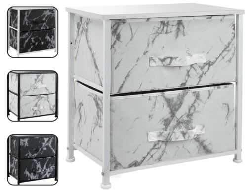 2 Drawer Bedside Dresser - Small Nightstand Table for Bedroom- Storage Organizer