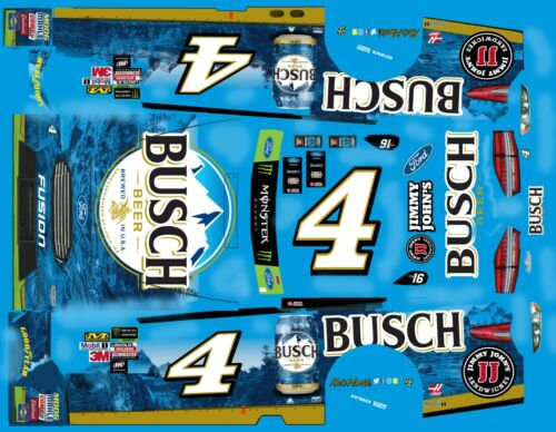 #4 Kevin Harvick Busch Beer Ford Fusion  1//32nd  Scale  slot car Decals