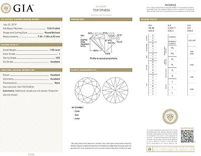 3 carat Round Diamond Studs 18k Yellow Gold Earrings w/ GIA report I VS2 clarity 3
