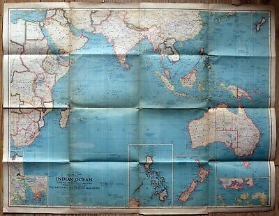 Indian Ocean National Geographic map 1941